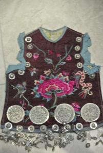 vintage Chinese Minority tunic - detail