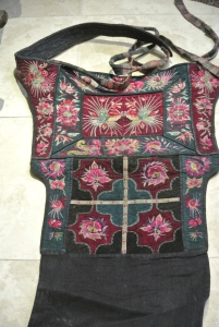 vintage Chinese Minority textile - detail baby carrier