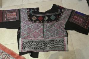 vintage Chinese Minority textile - detail jacket reverse