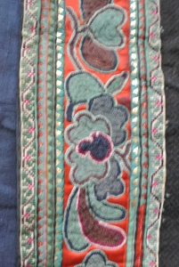 vintage Chinese Minority textile - detail jacket