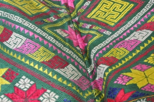 vintage Chinese Minority coat- detail with feathers