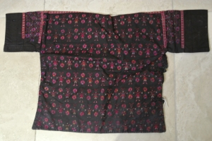 vintage Chinese Minority textile- detail jacket back