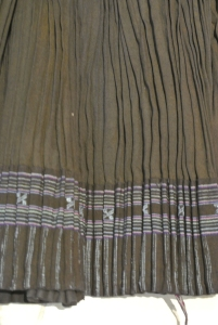 vintage Chinese Minority textile - detail pleating