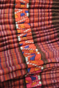 vintage Chinese Minority textile - detail skirt